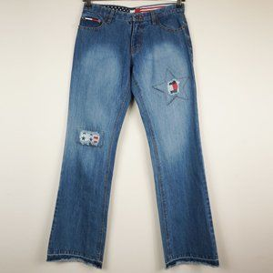 Tommy Hilfiger Jeans Straight Leg Distressed Stars